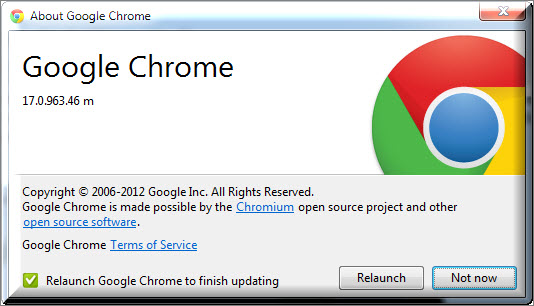 Google chrome full